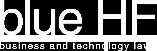blue hf law firm logo