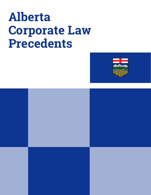 alberta corporate law precedents
