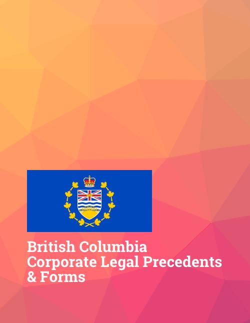 bc british columbia corporate law precedents
