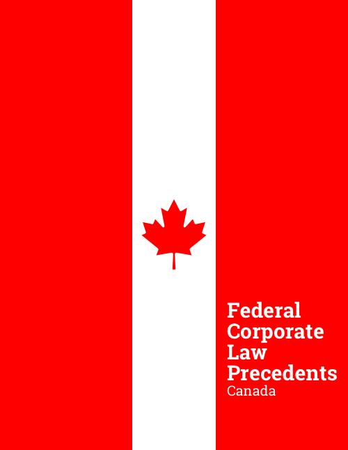 federal (Canada) corporate law precedents