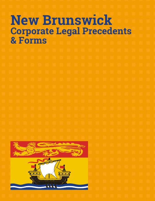 new brunswick corporate law precedents