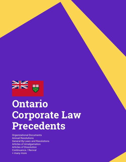 ontario corporate law precedents