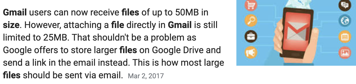 maximum file size for a minute book attachment in gmail is 25mb